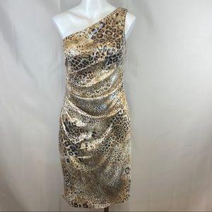 Eliza J leopard print sequin bodycon dress